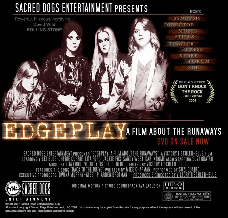Edgeplay: A Film About the Runaways 3 Lines About EdgePlay A Film About The Runaways 2004