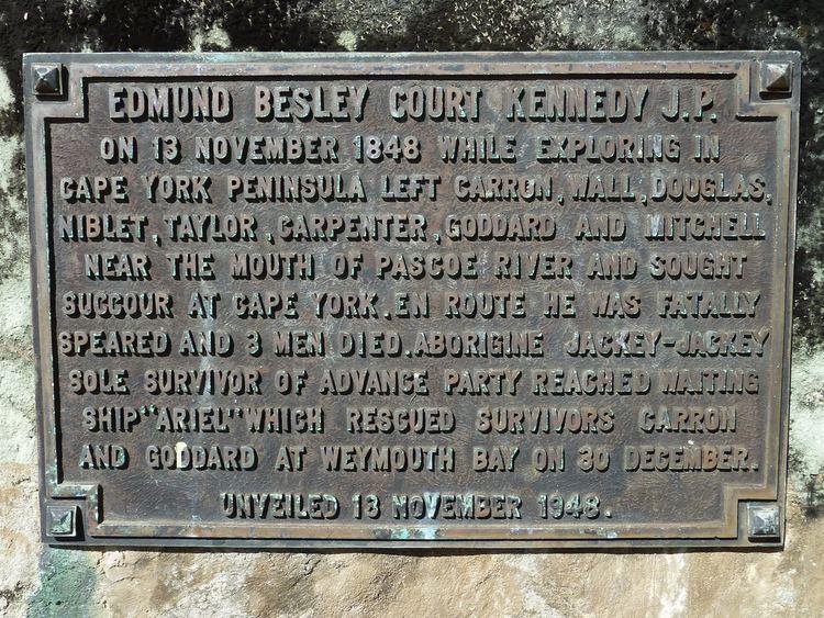 Edmund Kennedy FileEdmund Kennedy plaque at Portland Roadsjpg