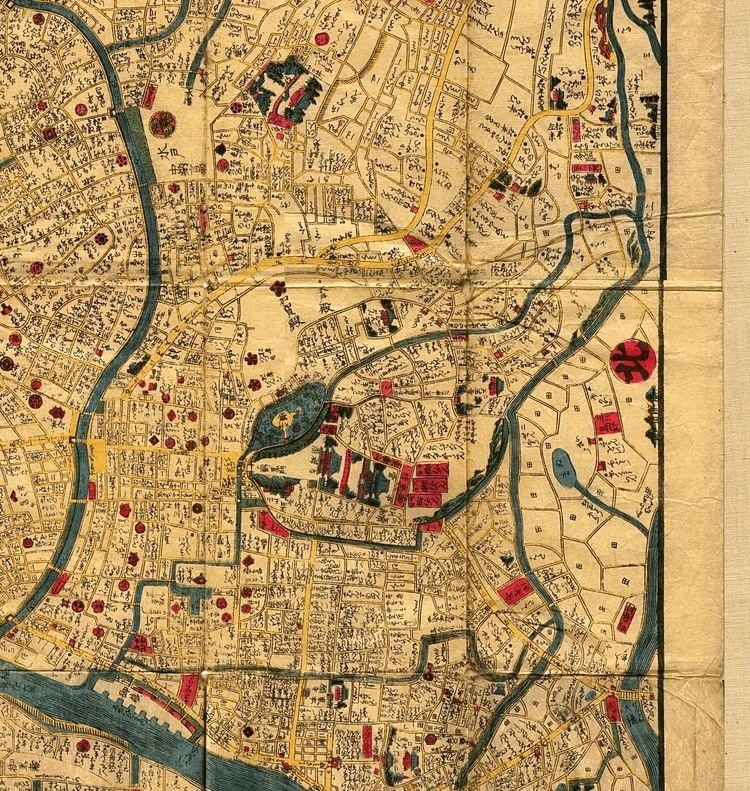 Edo Tokyo 18441848 PerryCastaeda Map Collection UT Library