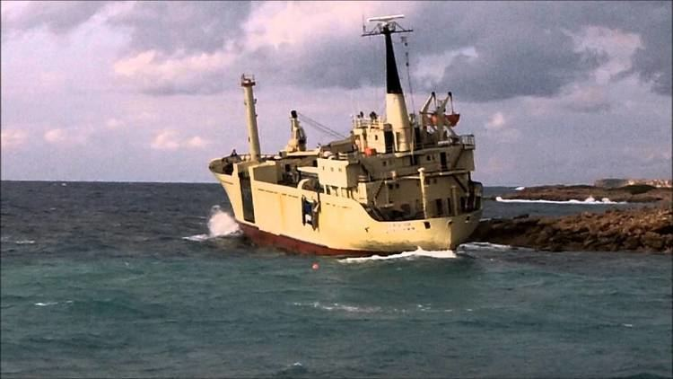 EDRO III Wreck of the Edro III at Sea Caves Paphos Cyprus YouTube