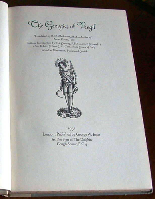 Edward Carrick The Georgics of Vergil Vergil illustrated by Edward Carrick