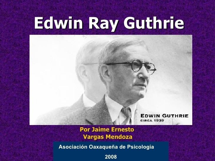edwin ray guthrie learning theory