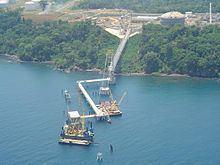 EG LNG Pipeline Suspension Bridge httpsuploadwikimediaorgwikipediaenthumba