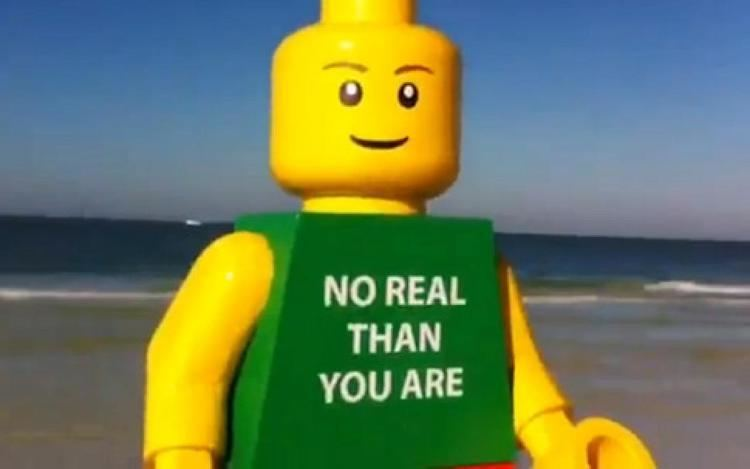Ego Leonard Another large LEGO man appears this time on beach in