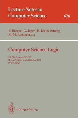 Egon Börger Computer Science Logic 4th 1990 Egon Brger 9783540544876