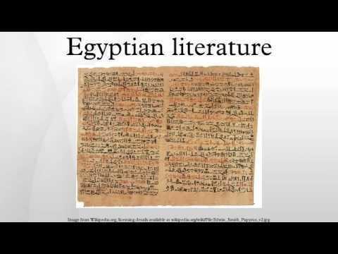 Egyptian literature Egyptian literature YouTube