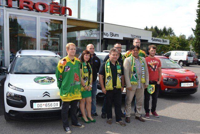 EHC Lustenau Vier Fahrzeuge fr den EHC Lustenau Lustenau VOLAT