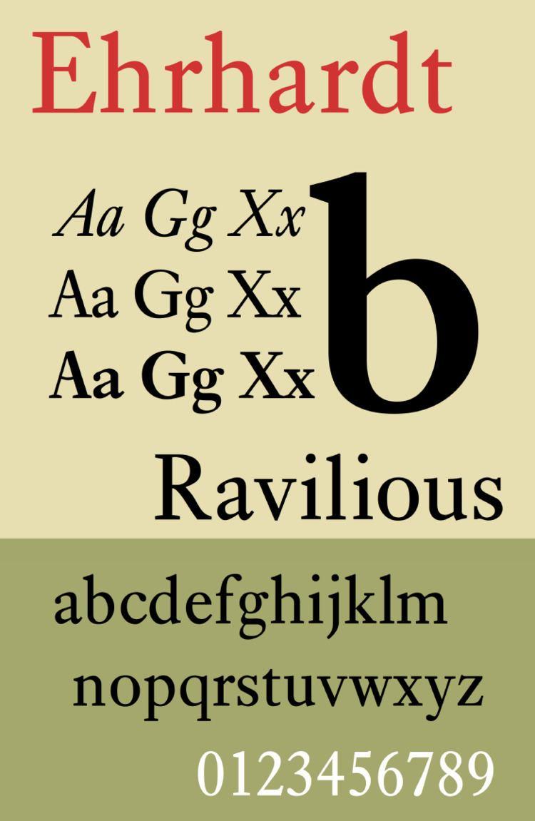 Ehrhardt (typeface)