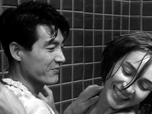 Eiji Okada Emmanuelle Riva and Eiji Okada in Hiroshima mon amour CLASSIC