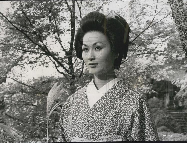 Eiko Ando 1956 Press Photo Eiko Ando The Barbarian and The Geisha Historic
