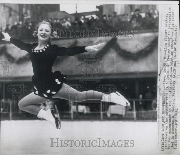 Eileen Seigh 1946 Press Photo Eileen Seigh Brookly Figure Skater eBay