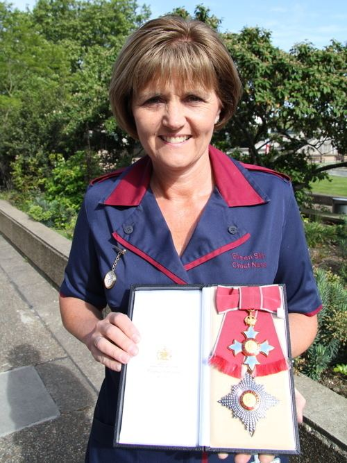 Eileen Sills Dame Eileen Sills SE1 chief nurse invested at Buckingham Palace 27