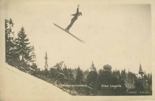Einar Landvik Postkort vi mangler Fra Holmenkolrendene Einar Landvik