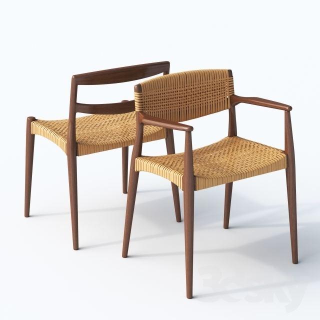 Ejner Larsen 3d models Chair Chair and armchair Ejner Larsen amp Aksel