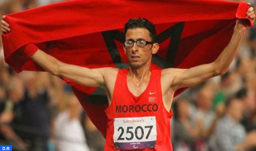 El Amin Chentouf Moroccos El Amin Chentouf Wins London Paralympic Marathon