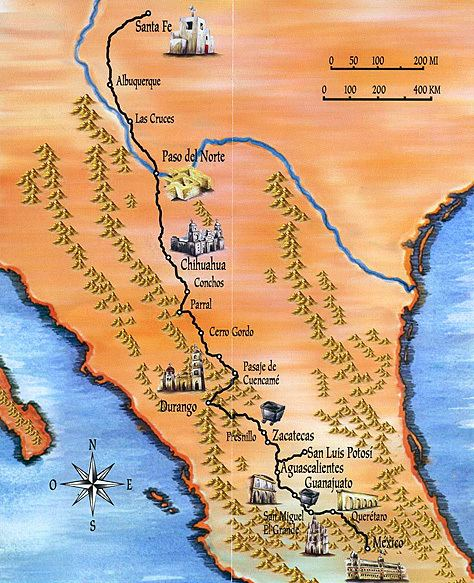 El Camino Real de Tierra Adentro Camino Real de Tierra Adentro Historical Facts and Pictures The