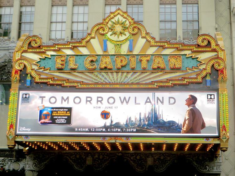 El Capitan (film) movie scenes We were invited today by Disney to visit the El Capitan Theatre for a look the limited time engagement of Disney s TOMORROWLAND feature film