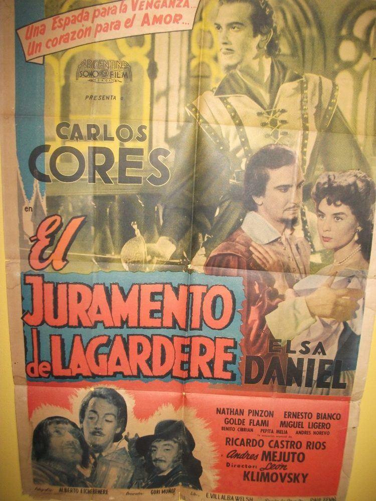 El Juramento de Lagardere Poster El Juramento De Lagardere Ao 1955 Elsa Daniel 65000