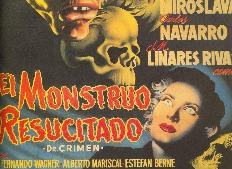 El Monstruo resucitado Tras las turquesas cortinas FANTASCOPA MEXICANA EL MONSTRUO