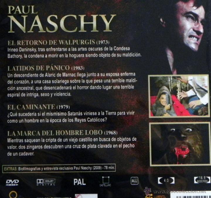 El Retorno de Walpurgis paul naschy 4 pelculas dvds terror el retorno Comprar Pelculas