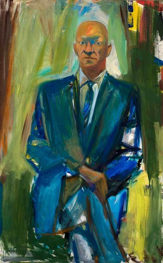 Elaine de Kooning Portrait of Jack Greenbaum Elaine de Kooning WikiArtorg