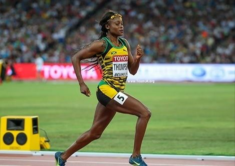 Elaine Thompson Jamaica39s Elaine Thompson wins silver in women39s 200m at