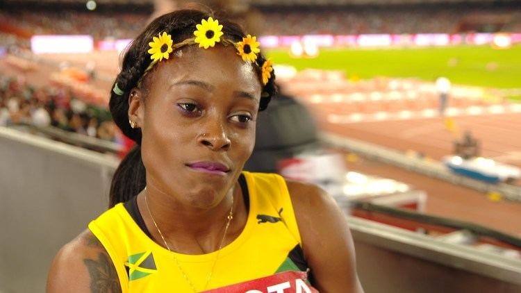 Elaine Thompson WCH 2015 Beijing Elaine Thompson JAM 200m Final Silver