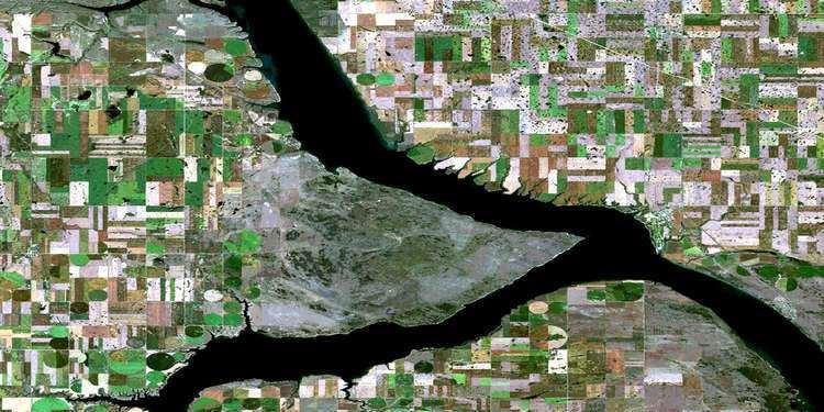 Elbow, Saskatchewan Elbow SK Free Satellite Image Map 072O02 at 150000