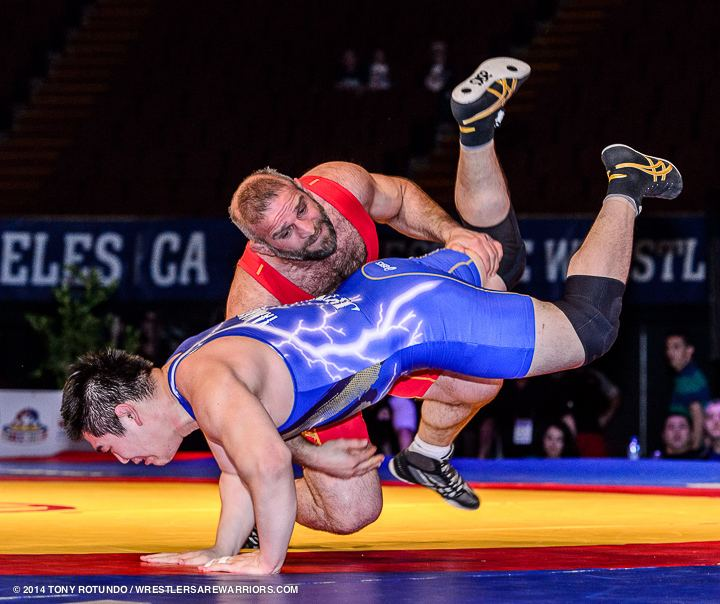 Eldar Kurtanidze 2014 OPEN WRESTLING FILA FREESTYLE WORLD CUP JPN vs GEO