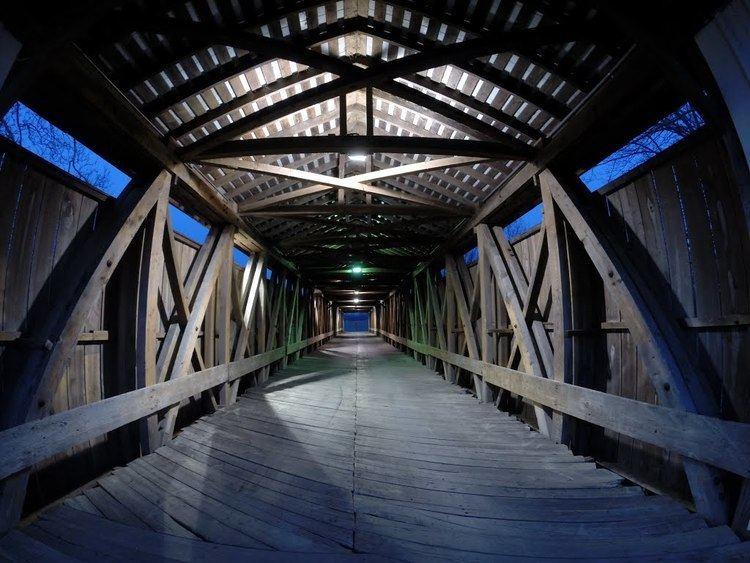 Eldean Covered Bridge Panoramio Photo of Lights inside Eldean Covered Bridge