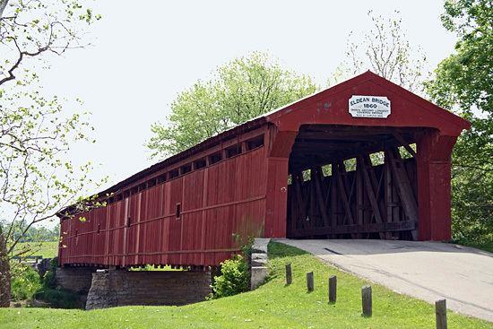 Eldean Covered Bridge 1955 The Eldean Covered Bridge prerefurbishing Remarkable Ohio
