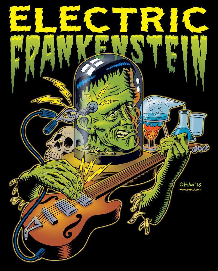 Electric Frankenstein Electric Frankenstein Poster COLOURED by Huwman on DeviantArt