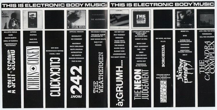 Electronic body music Front 242 Collector Compilation of the Week This Is Electronic