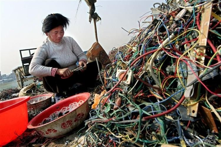 Electronic waste in Guiyu Guiyu An EWaste Nightmare Greenpeace East Asia