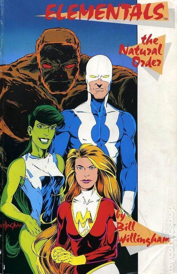 Elementals (Comico Comics) Elementals The Natural Order TPB 1988 Comico comic books