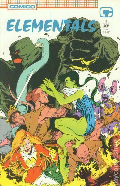 Elementals (Comico Comics) Elementals 1989 2nd Series Comico comic books