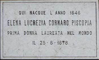 Elena Cornaro Piscopia Elena Lucrezia Cornaro Loredan Piscopialtltbrgt First Woman