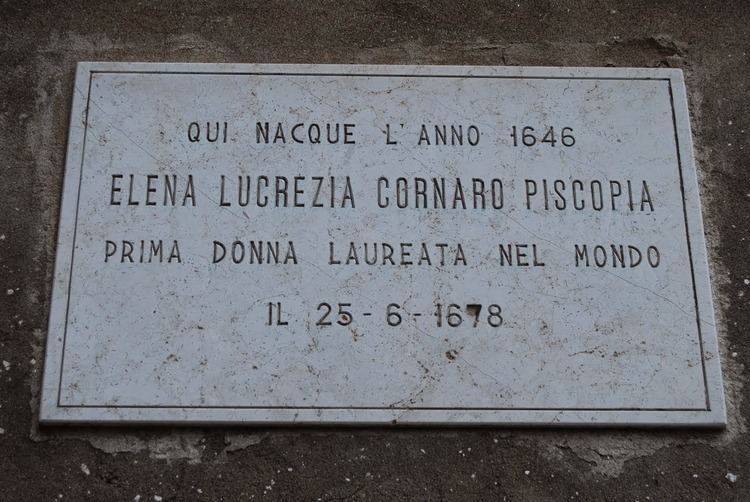 Elena Cornaro Piscopia The Monstrous Regiment of Women Elena Cornaro Piscopia The