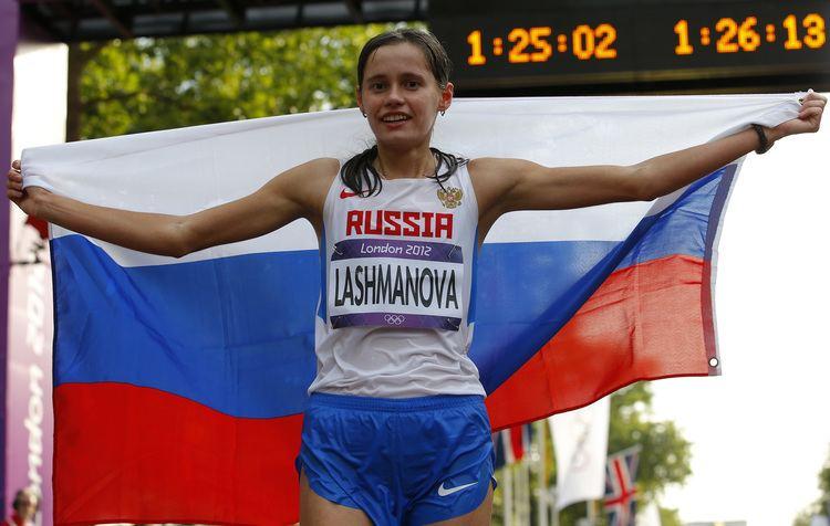 Elena Lashmanova Russia39s Elena Lashmanova wins women39s 20km race walk gold