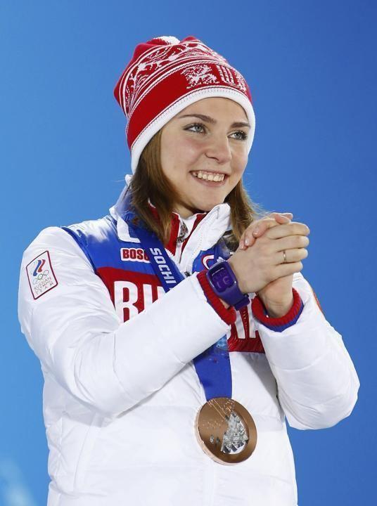 Elena Nikitina we women39s sports Bronze medallist Russia39s Elena