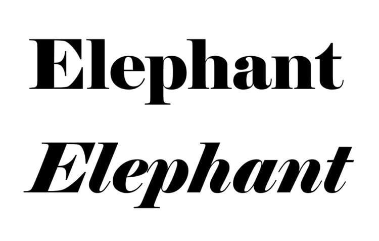 Elephant (typeface)