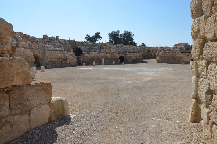 Eleutheropolis FileRoman Amphitheatre built by the Roman army units stationed