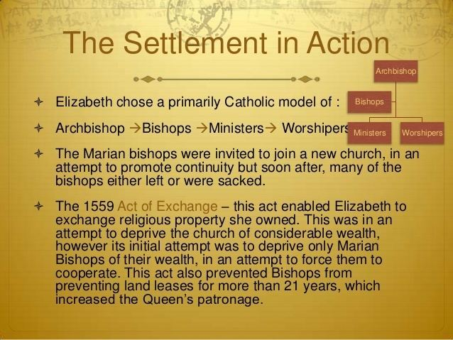 the elizabethan settlement was essentially a return to protestantism