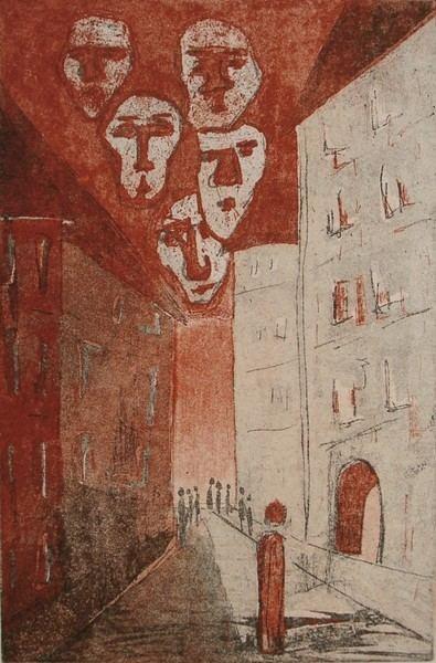 Elke Rehder Franz Kafka The Trial faces by Elke Rehder ArtWantedcom