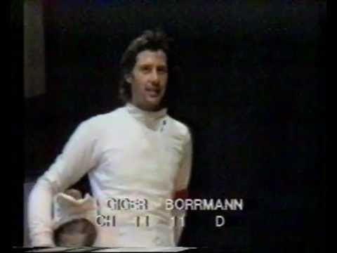 Elmar Borrmann Fechtweltmeisterschaft 1983 in Wien DegenFinale Elmar Borrmann