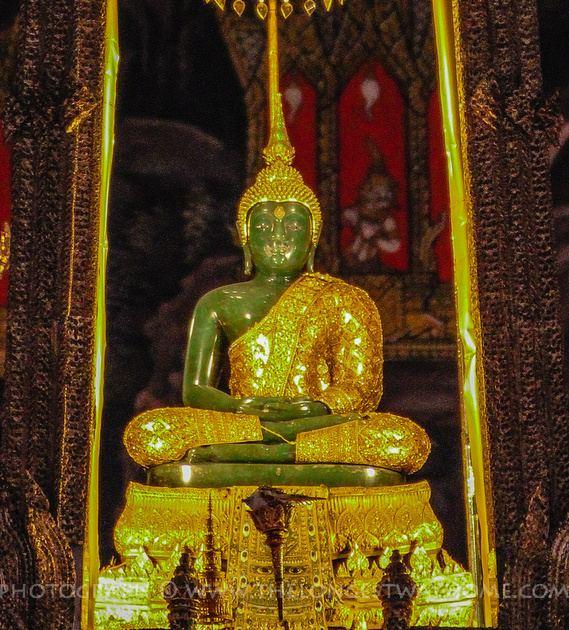 Emerald Buddha Emerald Buddha statue in Wat Phra Kaew Bangkok Thailand