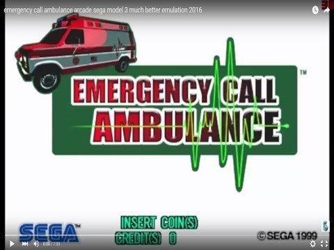 Emergency Call Ambulance emergency call ambulance arcade full gameplay sega model 3 2016 HD