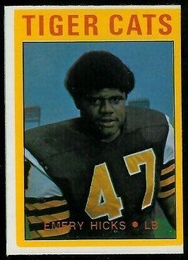 Emery Hicks Emery Hicks 1972 OPeeChee CFL 12 Vintage Football Card Gallery