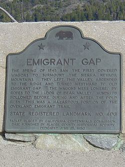 Emigrant Gap httpsuploadwikimediaorgwikipediaenthumb1