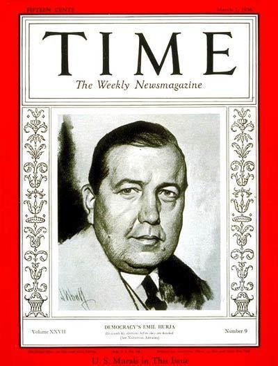 Emil Hurja TIME Magazine Cover Emil Hurja Mar 2 1936 Media Politics